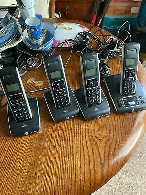 £35 • Buy B T Synergy Digital Cordless Landline Phone Quad Of Phone All In Goof Working Or