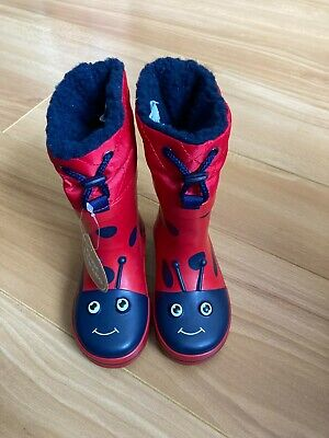 £8.50 • Buy Boys Girls Ladybird Wellington Boots Wellies Red Blue Thinsulate Size 5 NWT