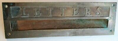 $45 • Buy Antique Heavy Brass LETTERS Mailing Slot From Post Office 5 DAY SALE