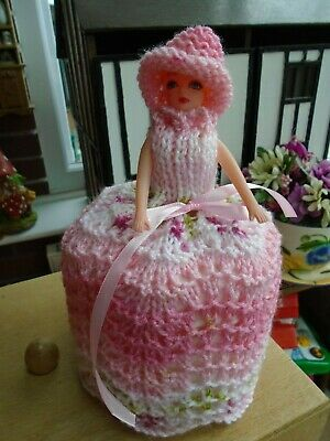 £5.99 • Buy  Hand Knitted Strawberry Crush Toilet Roll Doll Cover