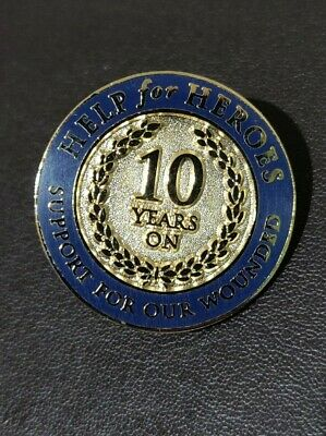 £15 • Buy Help For Heroes Pin Badge (10 Years On) RARE HARD TO FIND Badge Enamel
