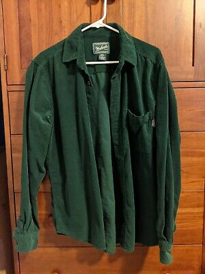 $23 • Buy Woolrich Corduroy Mens Button Down Shirt Size Medium Perfect Condition