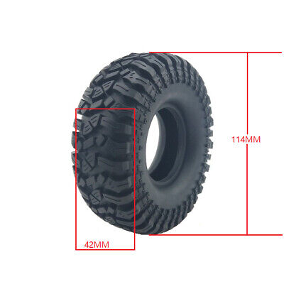 £24.19 • Buy 114MM 1.9  Rubber Tyre Wheel Tires For 1:10 RC Rock Crawler Axial SCX10 90046