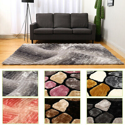 £49.95 • Buy Large Thick Soft 3d Textured Pile Pebble Stepping Stones Noble/swirl House Rugs