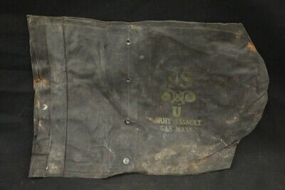 $9.99 • Buy WWII US Military Surplus Waterproof Rubberized M7 Army Assault Gas Mask Bag