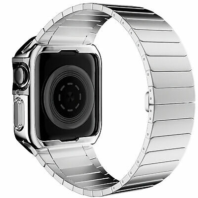 $ CDN21.81 • Buy Stainless Steel Wrist IWatch Band Strap+Case For Apple Watch Series 6 5 4 3 2 SE