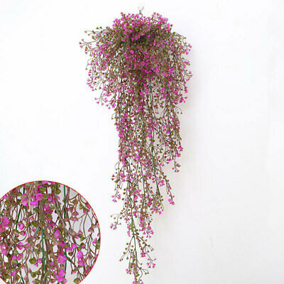 £5.95 • Buy Artificial Hanging Vine Flowers Trailing Willow Garland Plant Indoor Wall Decor