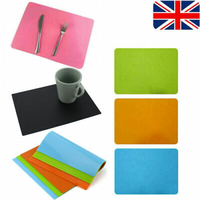 £2.99 • Buy Silicone Table Mat Heat Resistant Waterproof Non-Slip Coffee Desk Pad Placemat
