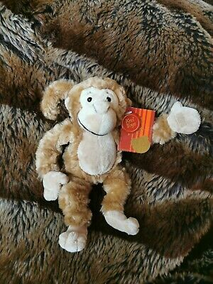 £4.99 • Buy Keel Toys Small Soft Monkey Plush BNWT With Bendable Tail