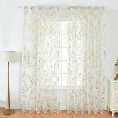£4.89 • Buy Feather Window Curtain Panel Drape Voile Tulle Sheer Valance Balcony Divider New