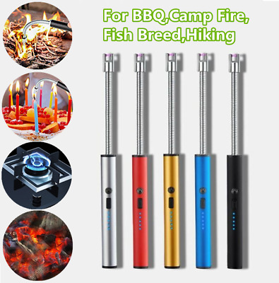 £7.85 • Buy USB Electric Lighter Rechargeable Flameless Windproof Plasma Candle BBQ Lighter