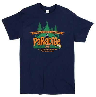 £14.45 • Buy Carry On Camping Inspired Paradise Camp T-shirt 70's Film Movie Shirt G000647