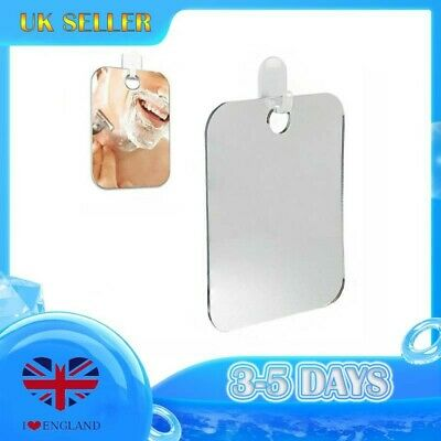 £5.99 • Buy Bathroom Shower Mirror Large Shaving Fogless Suction Cup Hook Wall Mounted
