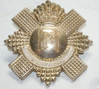 £1.40 • Buy Fine Canada Military Cap Badge - Canadian Highland Light Infantry - Queens Crown