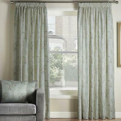 £34.95 • Buy Pollen Duck Egg Lined Tape Top Curtains 66  X 72