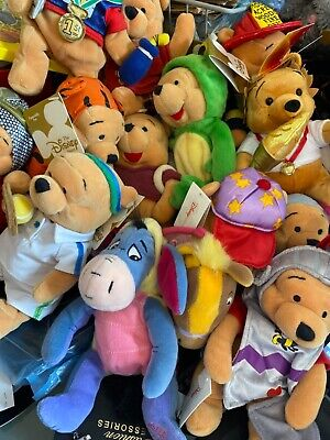 £4.99 • Buy Disney Store Winnie The Pooh Beanie Soft Toys, Collectable, Tags