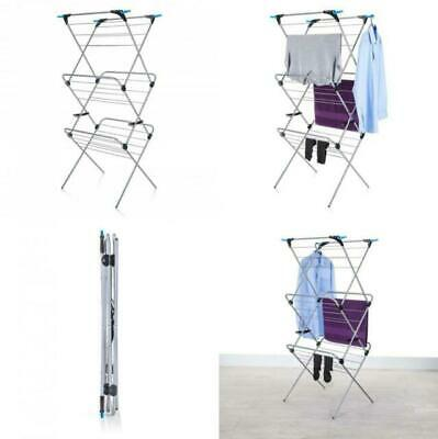 £35 • Buy Minky 3 Tier Plus Indoor Airer 21m Drying Space Silver 21 M