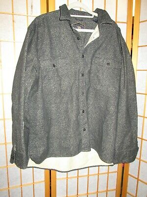 $16.19 • Buy Freedom Foundry Mens Size XXL Black Speckled Flannel Long Sleeve Button Up Shirt
