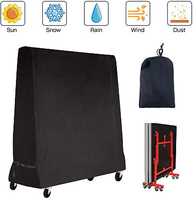 AU58.99 • Buy Tennis Ping Pong Table Black Full Size Table Cover Indoor/Outdoor Waterproof