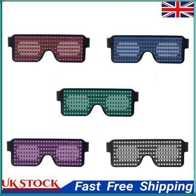 £9.18 • Buy Neon Flashing LED Light Up Shades Glasses Glowing Sunglasses Decoration ①a