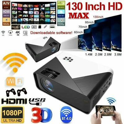 £98.58 • Buy 17000 Lumens WiFi Bluetooth Andriod 1080P Projector LED Home Theater Cinema HDMI