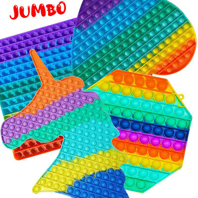 £3.90 • Buy Jumbo Large Popper Its Bubble Fidget Toy Stress Relief Kids Autism Special Needs