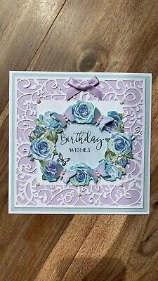 £1.25 • Buy Beautiful Handmade 3d Tattered Lace Birthday Card Topper!