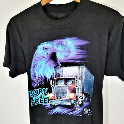 $ CDN250.51 • Buy Vintage 90s Truckers Only 3D Emblem T Shirt Vtg 1990s Born To Be Free Tee USA M