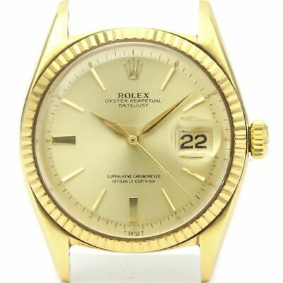 $ CDN8298.34 • Buy Vintage ROLEX Datejust Automatic 14K Gold Watch 1601 Head Only BF522666