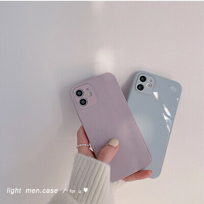 AU13.71 • Buy Glass Simple Phone Case For IPhone 12 Mini 11 Pro Max XR 8 7 Plus TPU Back Cover