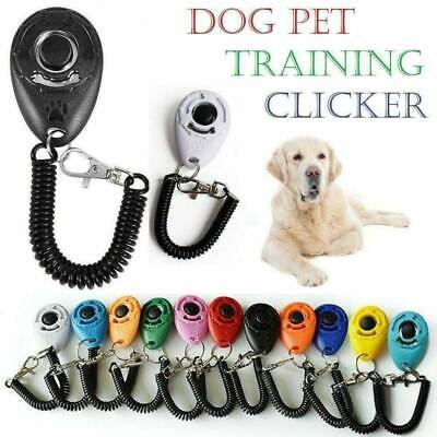 £1.48 • Buy Pet Dog Training Clicker Cat Puppy Button Click Trainer Obedience Aid Wrist US