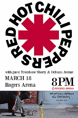 $15.83 • Buy RED HOT CHILI PEPPERS 2017 VANCOUVER CONCERT TOUR POSTER-Funk/Alt/Rap Rock Music