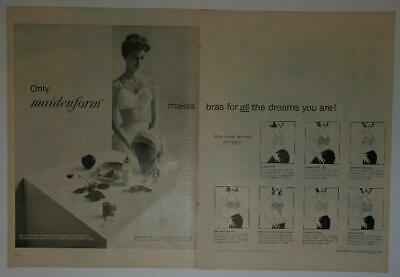 $6 • Buy Magazine Ad* - 1958 - Maidenform Bras - (two-pages) - (#2)