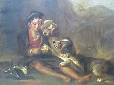 £480 • Buy Scotland Scottish Breakfast With Dogs Circa 1850 Antique Oil Hunting Shooting