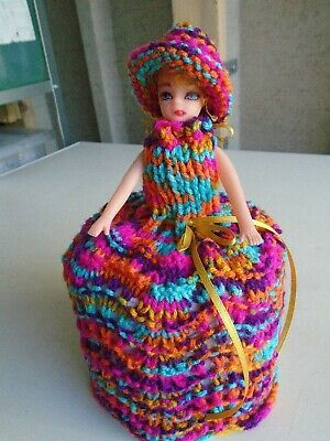 £5.99 • Buy  Hand Knitted Gypsy Doll Toilet Roll Cover