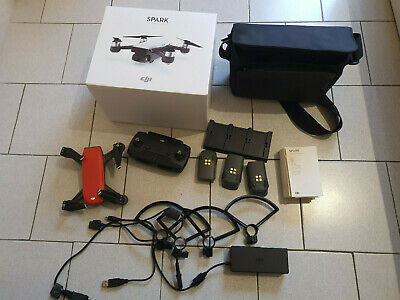 AU691.09 • Buy Drone Dji Spark Fly More Combo Magma Rouge - 3 Batteries + Sac De Transport