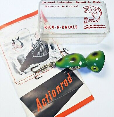 $ CDN23.29 • Buy EX In Box Orchard Industries Kick N Kackle Lure In Frog W Actionrod Insert