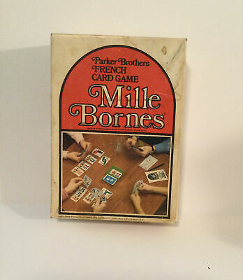 $9.99 • Buy Vintage Parker Brothers 1964 French Racing Card Game Mille Bornes Complete Set