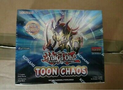£124 • Buy YuGiOh! Toon Chaos 1st Edition Box X24 Booster Packs  Brand New And Sealed
