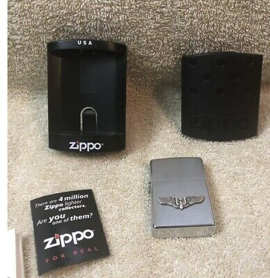 $9.99 • Buy In Box  Zippo Lighter U.S. Bomber Wings Never Used With Papers