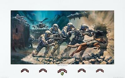 $170 • Buy  Into The Breach  75th Ranger Regiment Print (Military Edition) By Stuart Brown