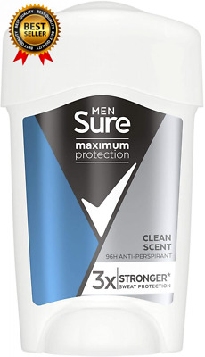 £4.98 • Buy Sure Maximum Protection Anti-Perspirant Clean Scent 45 Ml (Pack Of 1)
