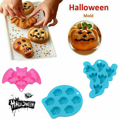 £2.99 • Buy Halloween Ghost Christmas Silicone Mould Chocolate Ice Cube Tray Cake Bake Mold