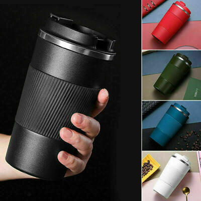AU19.79 • Buy Insulated Travel Coffee Mug Cup Thermal Flask Vacuum Thermos Stainless Steel Hot