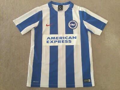 £0.01 • Buy Brighton & Hove Albion Home Shirt Size 'med Boys' Blue/white Nike No Reserve