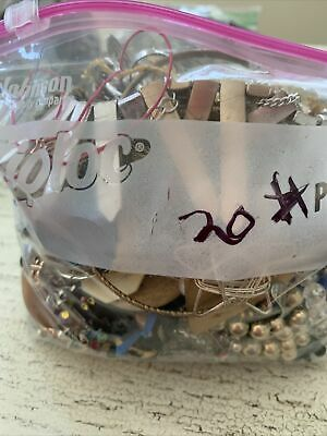 $ CDN16.35 • Buy Lot 20 Bag Vintage Estate Mixed Parts Craft Jewelry Wear Lot 3 Pound