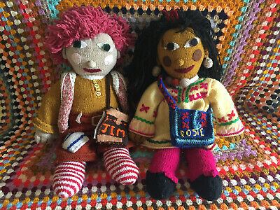 £24.99 • Buy Vintage Old Knitted Unique Rosie And Jim Dolls