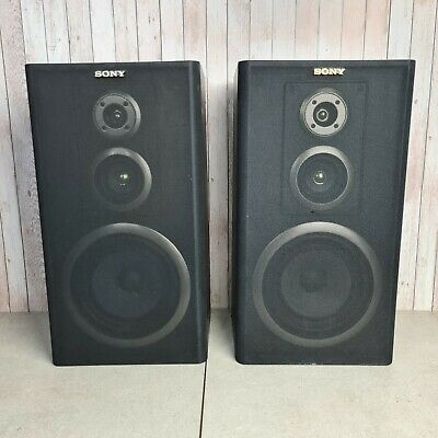 £39.95 • Buy Sony SS-A502 Stereo Speakers - 120 Watt - 6 Ohms - Tested And Working Hi Fi