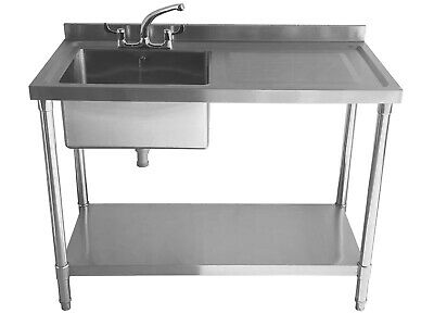 £279 • Buy Commercial Stainless Steel Sink - Single Bowl - 1200mm - Right Hand Drainer