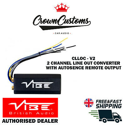£14.99 • Buy Vibe Clloc-v7 2 Channel Line Out Converter With Autosence Remote Output